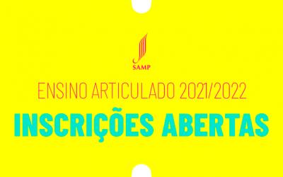 Inscrições Abertas | Ensino Articulado para o ano 2021/2022